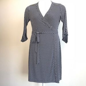 NWT! Calvin Klein wrap dress navy/white sz 10!